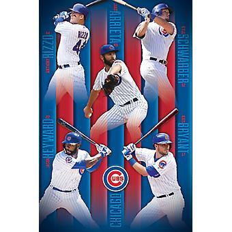 Chicago Cubs - Gruppe 16-Plakat-Druck
