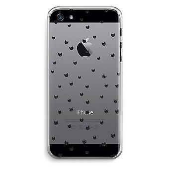 iPhone 5/5 s ・ SE 透明ケース (ソフト) - 小さな猫