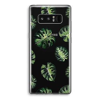 Samsung Galaxy Note 8 Transparant Case - Tropical leaves