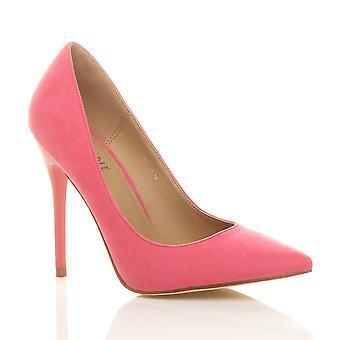 Ajvani womens hoge hak wees contrast Hof slimme partij werk schoenen pompen