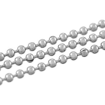 2m x Silver Tone 304 Stainless Steel 1.5mm Closed Ball Chain CH2050