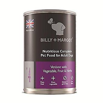 Billy + Margot Venison Complete Wet Food for Dogs395g