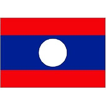 Laos Flag 5ft x 3ft With Eyelets For Hanging