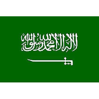 Saoedi-Arabië vlag 5 ft x 3 ft met oogjes voor verkeerd-om