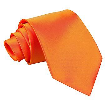 Plaine d'Orange brûlé Satin cravate extra-longue