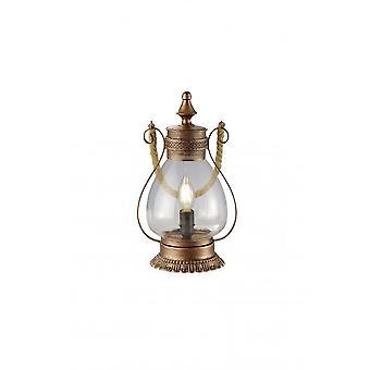 Trio Lighting Linda Vintage Antique Copper Metal Table Lamp