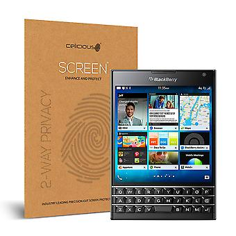 Celicious Privacy 2-Way Anti-Spy Filter Screen Protector Film Compatible with Blackberry Passport