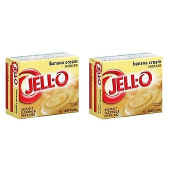 Jell-O Banana Cream Instant Pudding Dessert Mix 2 Box Pack