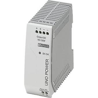 Rail mounted PSU (DIN) Phoenix Contact UNO-PS/1AC/15DC/ 55W 15 Vdc 3.7 A 55 W 1 x