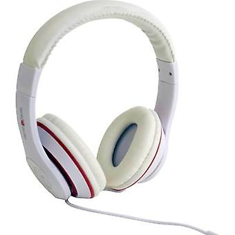 Gembird Los Angeles Headphones On-ear Headset White