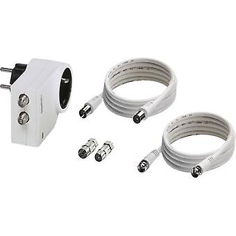 Phoenix Contact MNT-TV-SAT D/WH 2882297 Surge protection in-line connector Surge prtection for: mains outlets, DVB-C, C
