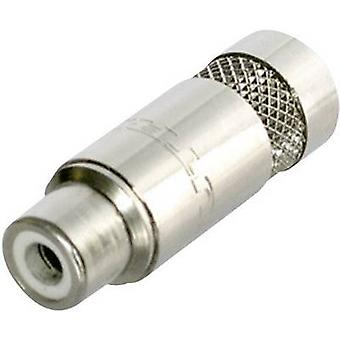 Neutrik NYS372-P RCA connector Socket, straight Number of pins: 2 Silver 1 pc(s)