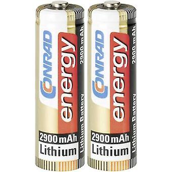 AA battery Lithium Conrad energy Extreme Power LR06 2900 mAh