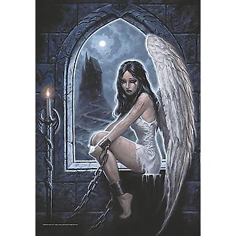 Gothic Captive Angel (Spiral Collection) Large Fabric Poster / Flag 1100Mm X 750Mm