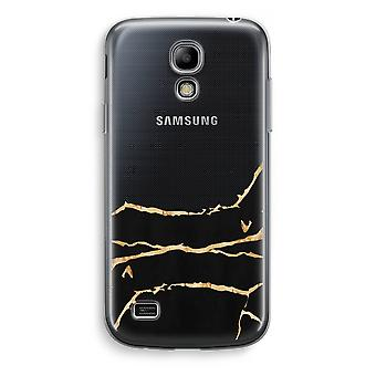 Samsung Galaxy S4 Mini Transparent Case - Gold marble
