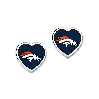 Wincraft ladies 3D heart Stud Earrings - NFL Denver Broncos
