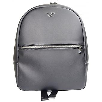 Emporio Armani Leather Black Backpack