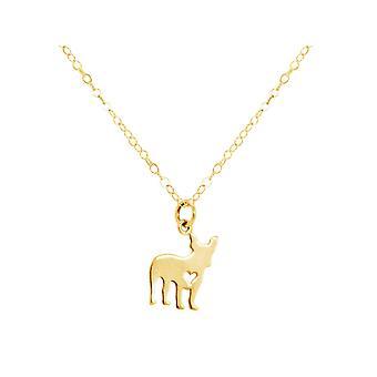 GEMSHINE Mops Hund Anhänger 925 Silber, vergoldet oder rose an 45 cm Kette