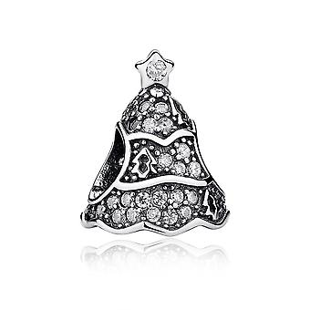 Sterling silver charm twinkling Christmas tree