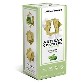 Paul & Pippa Artisan Crackers con Albahaca 100 g (Dieta , Crackers)