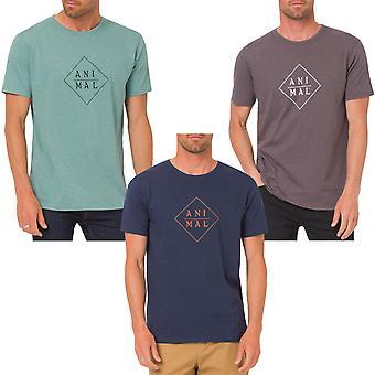 Zwierząt męskie Robic Logo Krótki rękaw pod szyją Koszulki Tee Top