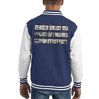 TV Times Beatles Lennon McCartney Show Photo Reel Kid's Varsity Jacket