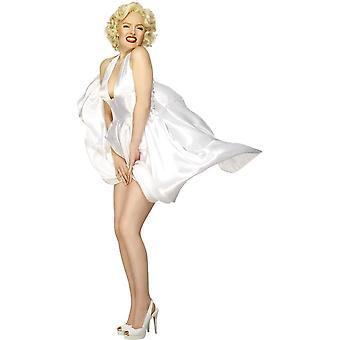 Marilyn Monroe klassieke kostuum, wit, met Halterneck jurk