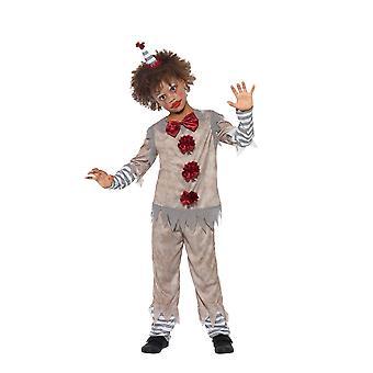 Vintage Clown Boy Costume, Halloween Child Fancy Dress, Medium Age 7-9
