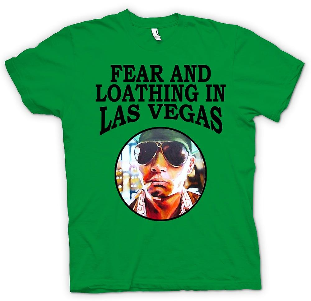 Mens T-shirt-peur parano - Funny Hunter S Thompson - film