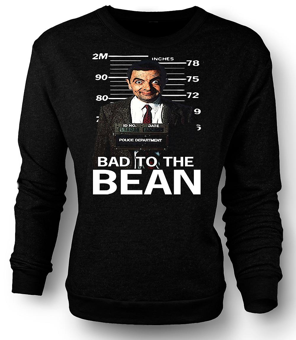 Heren Sweatshirt heer Bean Bad To Bean Mug Shot - Comedy
