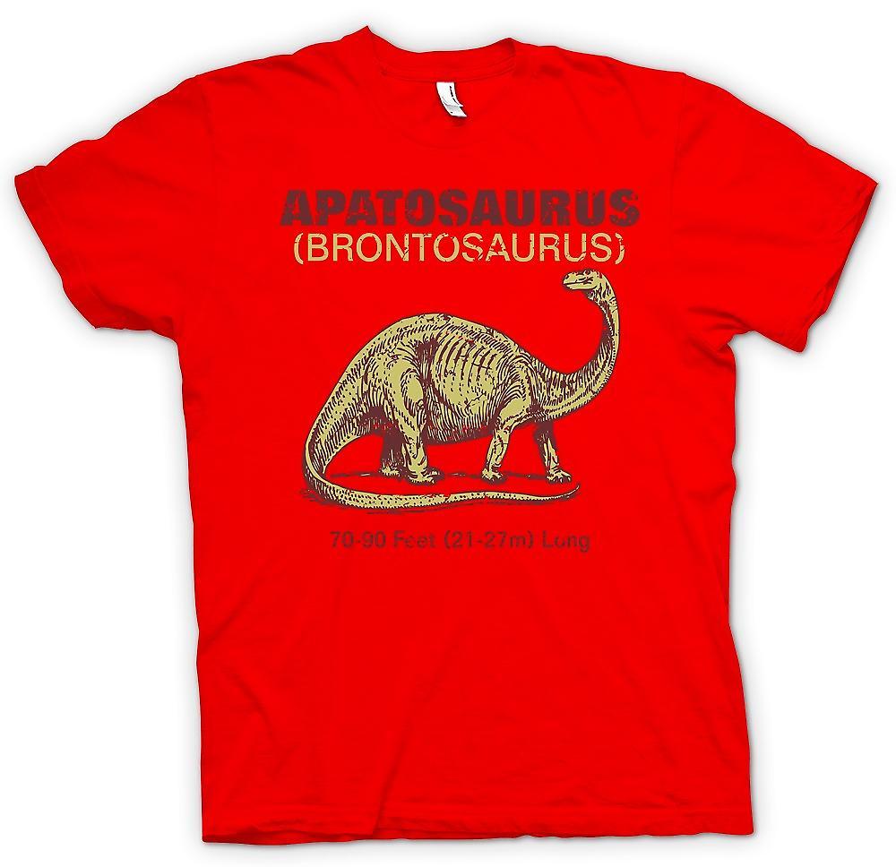 Mens t-skjorte-Apatosaurus Brontosaurus kult Dinousaur Design