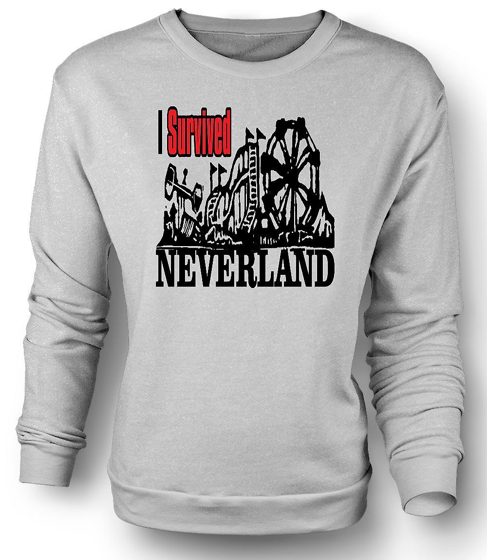 Mens Sweatshirt jeg overlevde Neverland - Funny