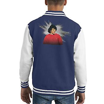 TV Zeiten Kevin Keegan Footballer Kid Varsity Jacket