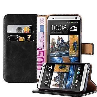 Cadorabo tilfældet for HTC én M7 - sagen i luksus design med kortindehaveren og stå funktion - tilfælde dække ærme pose taske bog