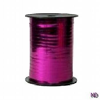 Ballon, Curling Ribbon - metallisk Fuschia