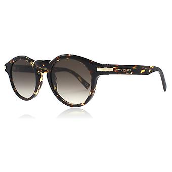 Marc Jacobs MJ184/s LWPHA Brown Marble MJ184/s Round Sunglasses Lens Category 3 Size 49mm