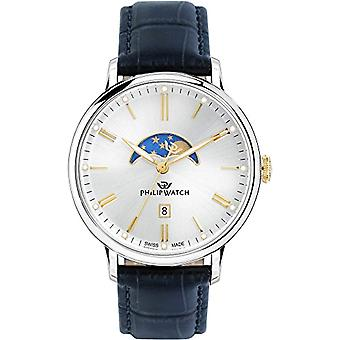 PHILIP WATCH Wristwatch Moonphase quartz men's watch with leather R8251595001