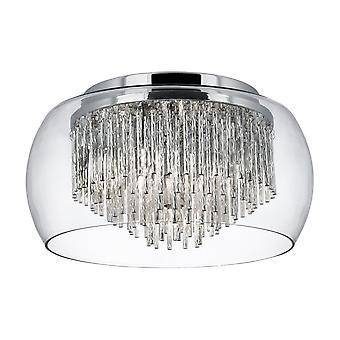 Curva Chrom und Glas spülen Armatur - Searchlight 4624-4CC