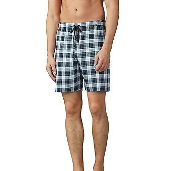 Mey mænd 18950-188 mænds Lounge Ciel grå Plaid pyjamas kort