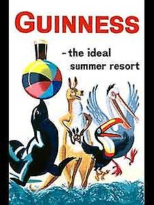 Guinness Ideal Summer Resort steel fridge magnet