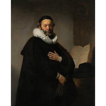 Portrait de Johannes Wtenbogaert, Rembrandt, 50x40cm