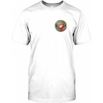 USMC USA: S marinsoldater - bröstet logotyp Mens T Shirt