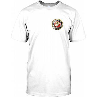 USMC Stany Zjednoczone Marines - Komoda Logo męskie T Shirt