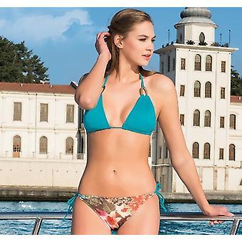 Aqua Perla - Womens -tropical- Multicolor - Bikini Two Pieces