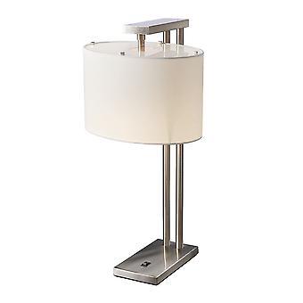 Elstead - 1 Light Table Lamp - Brushed Nickel Finish - BELMONT TL