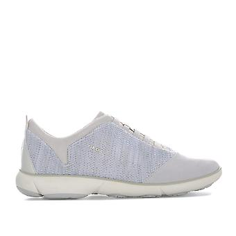 Womens Geox Nebula Trainer In Off White