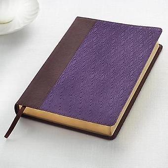 KJV Large Print Lux-Leather Brown/Purple - 9781432117511 Book