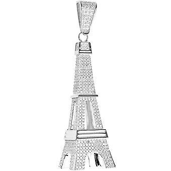 Premium Bling - colgante de Torre Eiffel de plata esterlina 925