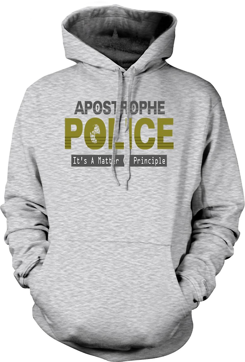 Mens Hoodie - Apostrophe Police - Funny