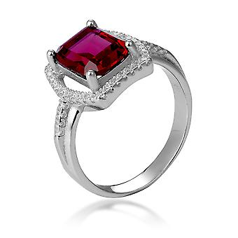 Orphelia Silver 925 Ring With Ruby And Zirconium ZR-7426